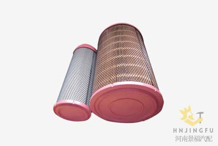 Pingyuan KLX-1253/1254/XCMG 860118632/K2640 air filter for yuchai engine XCMG crane loader
