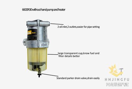 Parker Racor Greenmax Series Diesel Fuel Filter Water