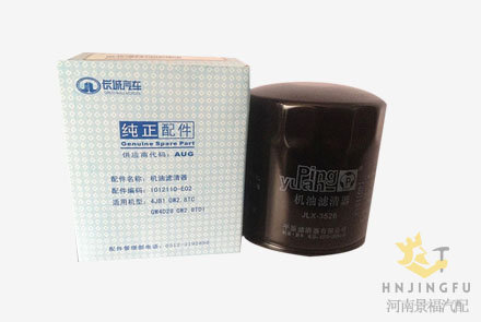 JLX-352B/1012110-E02 Pingyuan lube oil filter for Baoding Greatwall truck